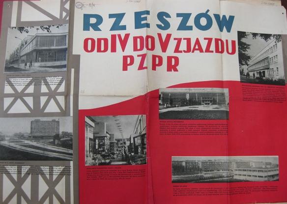Plakat propagandowy KW PZPR w Rzeszowie (Zbiory Wojewódzkiej i Miejskiej Biblioteki Publicznej w Rzeszowie),,,