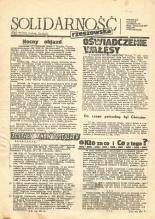 """""""Solidarność rzeszowska"""", Biuletyn informacyjny MKZ NSZZ """"Solidarność"""" w Rzeszowie, Nr 91 /102/."""