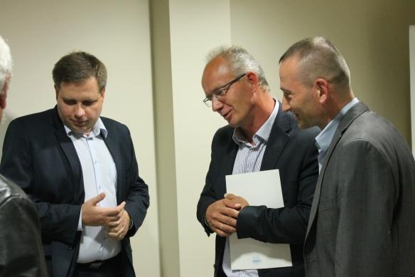 Wojciech Słowik, wnuk skazanego na karę śmierci Leona Słowika, prof. Krzysztof Szwarzyk, Marcin Maruszak (Fot. Archiwum)