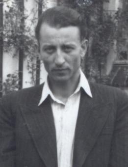 Kopia fot. 4 Szybowice 1950 Hieronim Bednarski z synem Jerzym